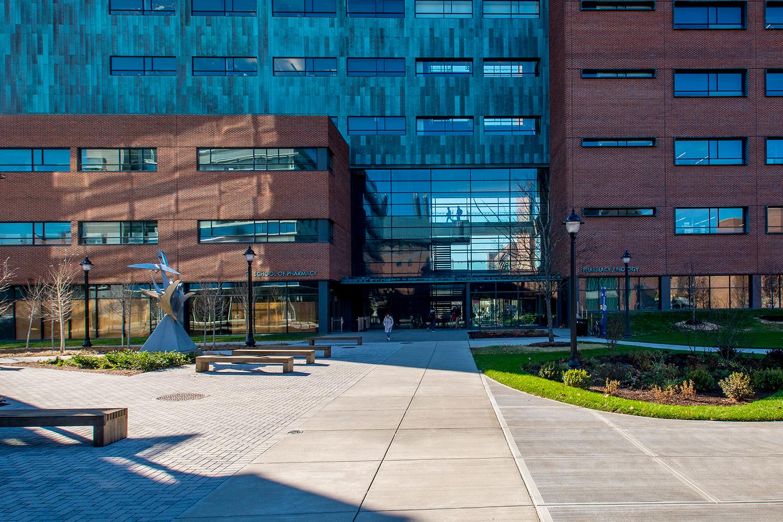 exterior of the school of pharmacy