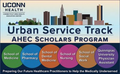 Urban Service Track Logo- UConn School of Pharmacy