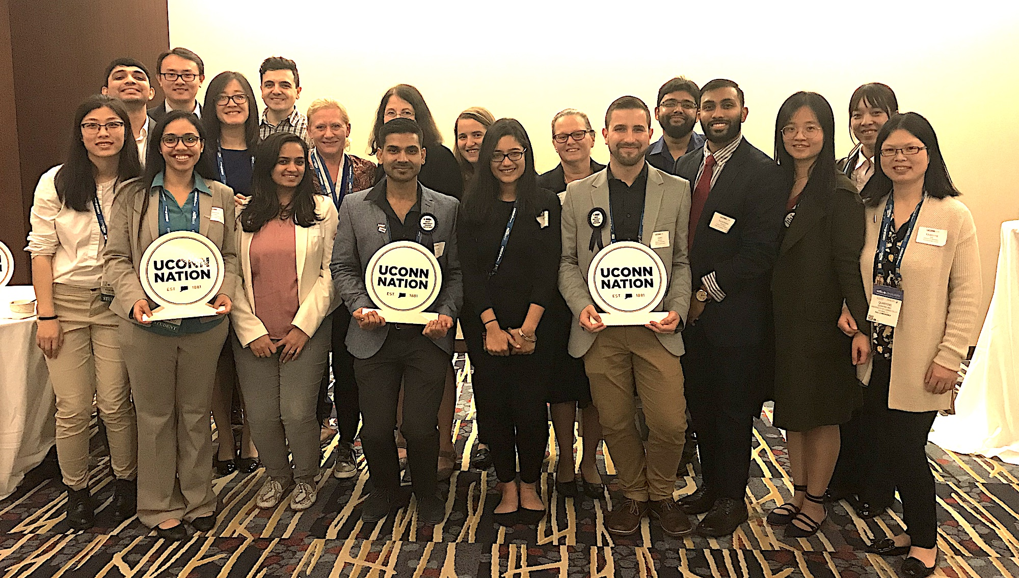 UConn Pharmaceutical Sciences Students at Conference event