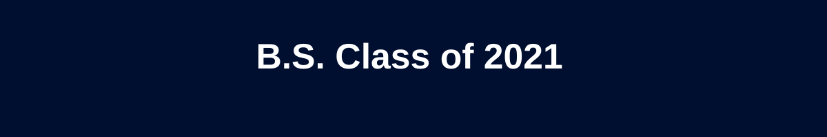 B.S. Class of 2021 graphic